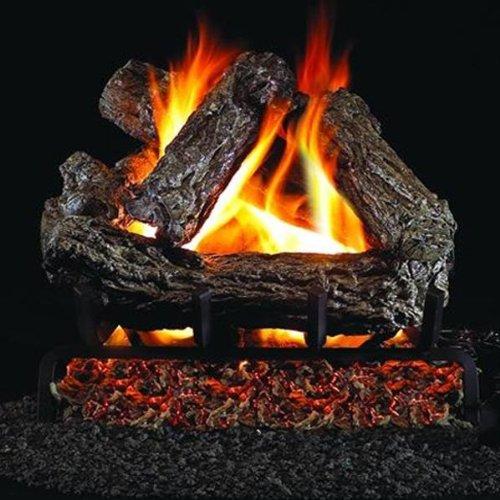 Peterson Real Fyre 16-inch Rustic Oak Log Set With Vented G45 Burner