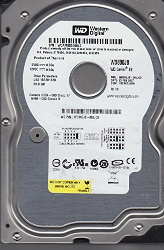 - Western Digital Caviar 80GB 7200RPM 3.5