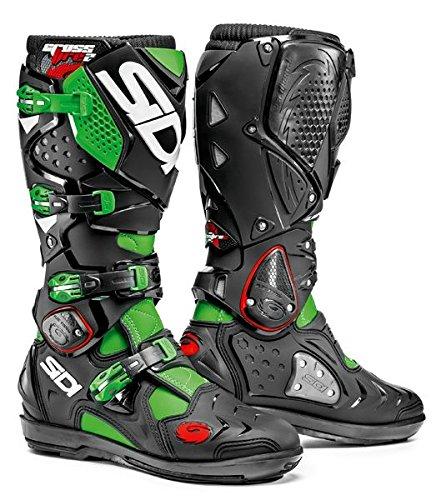 Boots Mens Motocross (Sidi Crossfire 2 SRS Boots (BLACK/FLUORESCENT GREEN))