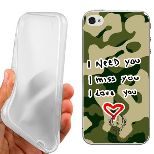 CUSTODIA COVER CASE CASEONE AMORE MIMETICO PER IPHONE 5C