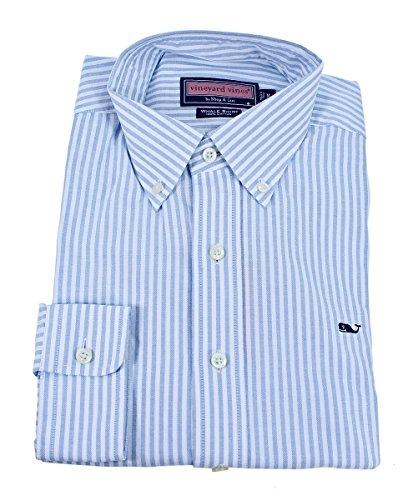 Vineyard Vines Mens Whale Shirt Buttondown (University Stripe, Large)