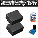 Battery Kit Includes 2 Extended Replacement DMW-BLB13 (1500 mAH) Batteries + 3PC Lens Cleaning Kit + LCD Clear Screen Protectors For The Panasonic Lumix DMC-G10 DMC-GF1C DMC-GH1 DMC-G1 DMC-G2 Digital Camera