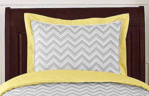 Sweet Jojo Designs 5-Piece Yellow and Gray Chevron Zig Zag Boy or Girl Toddler Bedding Set