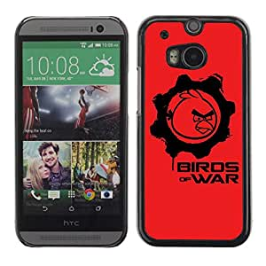 A-type Arte & diseño plástico duro Fundas Cover Cubre Hard Case Cover para All New HTC One (M8) ( Divertidos Birds Of War Angry Birds Gears Of War )
