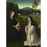 Canvas Prints Of Oil Painting ' Style Of Joachim Patinir The Virgin And Child With A Cistercian Nun ' , 16 x 22 inch / 41 x 55 cm , Polyster Canvas Is For Gifts And Bar, Garage And Nursery Decoration