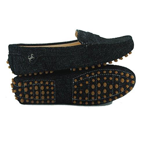 Femmes Moccasin Conduite Mocassin Travail Décontractée Noires Chaussures Flats Cuir Meijili En Des Pois 5qxtw8pS