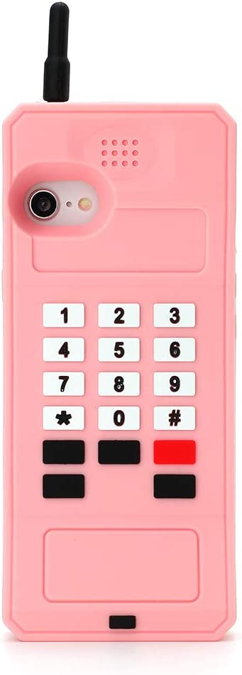 Retro Phone Case for iPhone SE 2020,Awin 3D Cute Cartoon Big Retro Telephone Soft Rubber Silicone Phone Case for iPhone SE 2020/iPhone 6 6S 7 8 4.7inch (Big Telephone)