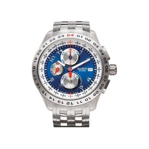 Chrono Swatch Cuarzo De Automatic Analógico Reloj Caballero Con CrsQhdxt