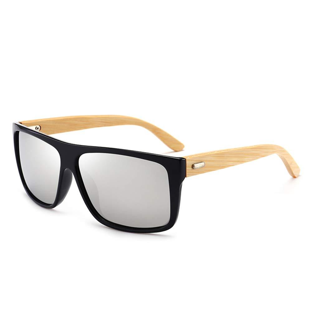 XuBa Men Classic Fashion Bamboo Leg Sunglasses