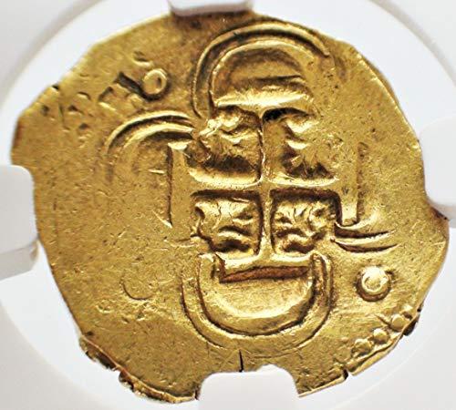 ES 1598-1621 AD Spain Crusader Knights Templar Cross Rare Antique Gold Coin Coins 2 Escudos AU-55 NGC