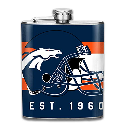 Aoskin Denver Broncos Portable Stainless Steel 7oz Hip Flask Flagon Whiskey Wine Pot Bottle