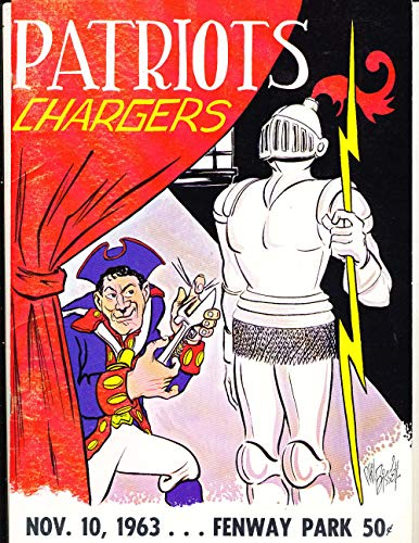- 11/10 1963 Boston Patriots vs San Diego Chargers AFL football program