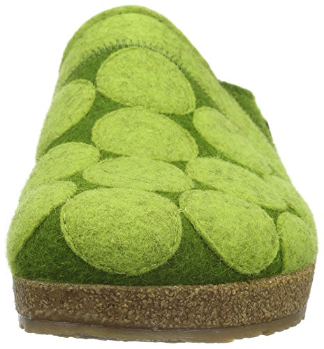Mujer Estar Zapatilla Verde Haflinger Grün Casa 36 grasgrün De Por Dots 7YH7BwAq