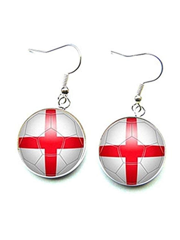 Pendientes de futbolín, seguidor inglés, Copa del mundo ...