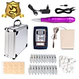 Solong Tattoo Hybrid Tattoo Pen Rotary Tattoo Machine Permanent Makeup Pen Kit+Power supply+20 Needle Cartridges EK201A-5