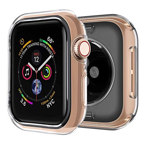 [2 Pack] iMieet Compatible with Apple Watch Case 40mm Series 4, Soft TPU Screen Protector Protective 0.3mm HD Clear Ultra-Thin Cover Case for iWatch Series4 40mm 2018 Released