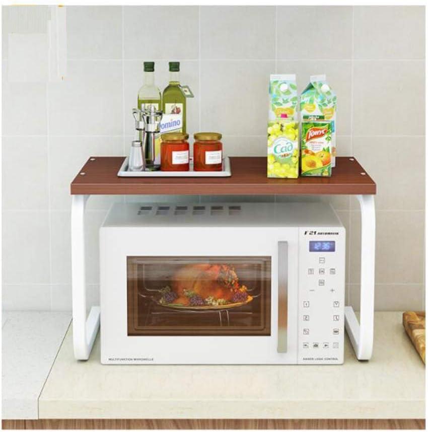 Soporte para microondas Estanteria Cocina para Horno De Microondas De Pie Microondas Organizador Horno Estante 57 x 34 x 38cm Blanco