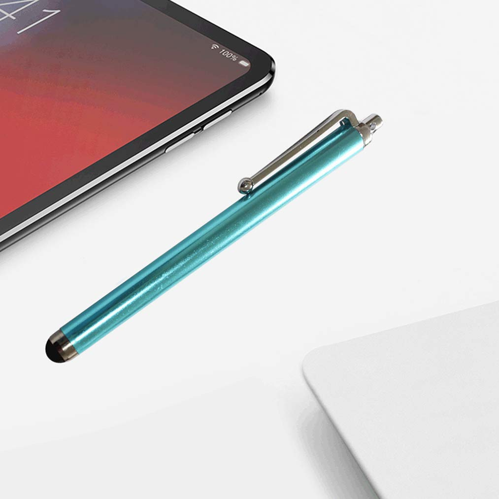 Lystaii Penna Stilo da 12 Pezzi 2 in 1 Penne Touch Point con Schermo Elettronico Slim Capacitive per Dispositivi Touchscreen Universali