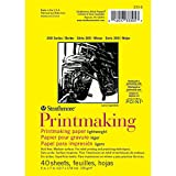 "Strathmore STR-333-5 40 Sheet Lightweight Printmaking Pad, 5 by 7"""