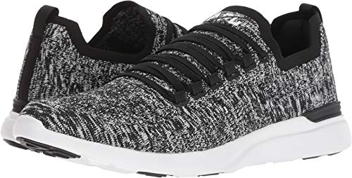 APL: Athletic Propulsion Labs Women's Techloom Breeze Sneakers, Black/White/Melange, 7 M US