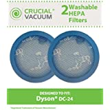2 Washable & Reusable Pre-Motor Filters for Dyson DC24 Vacuums; Compare to Dyson Part No. 913788-01; Designed & Engineered by Think Crucial