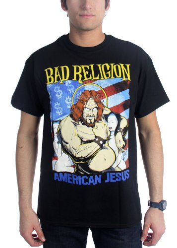 Authentic BAD RELIGION Band American Jesus T-Shirt S M L XL 2XL NEW