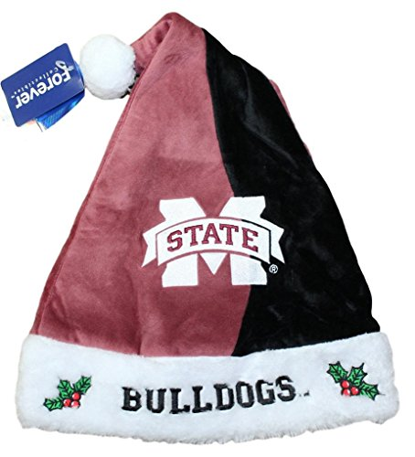 Mississippi State Bulldogs 2017 NCAA Basic Logo Plush Christmas Santa Hat (State Plush Hat)