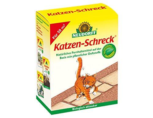 Wenn Sie nicht selbst Pflanzenstoffe bröseln wollen, gibt es fertige Katzenschreck Duftstoffe auch im Handel (z.B. hier von Neudorff).