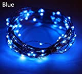 CYCTECH 50 LED Fairy Lights, Battery Operated Globe String Lights Starry Lights for Home Party Birthday Garden Festival Wedding Xmas Indoor Outdoor Use-5 M (Blue)
