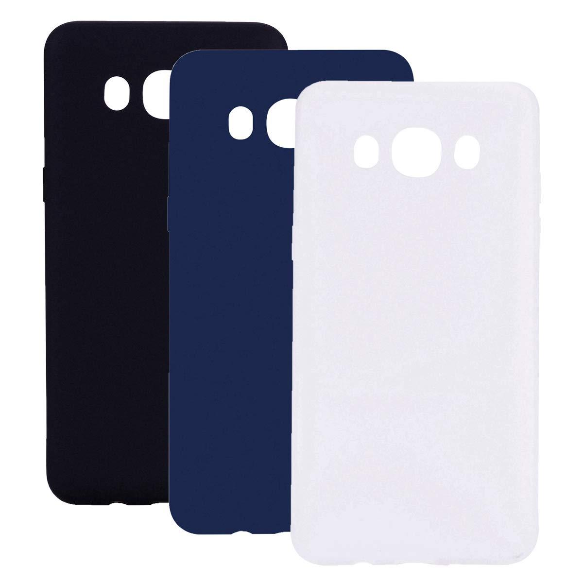 Misstars Silikon Hülle für Galaxy J3 2016, Soft Flex TPU Case im Candy Design Ultra Dünn Matt Weich Handyhülle Anti-Stoß Kratzfeste Schutzhülle für Samsung Galaxy J3 2015 / J3 2016, Blau