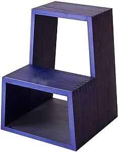 RANRANJJ Taburete de Madera Grande con almacenaje, Taburete de Escalera de 2 Pasos Taburete de Madera Maciza con escalones multifunción Cambio de Banco, Taburete de Cocina de Entrada: Amazon.es: Hogar