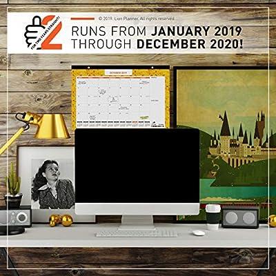 Amazon.com: Calendario de escritorio 2019-2020, planificador ...