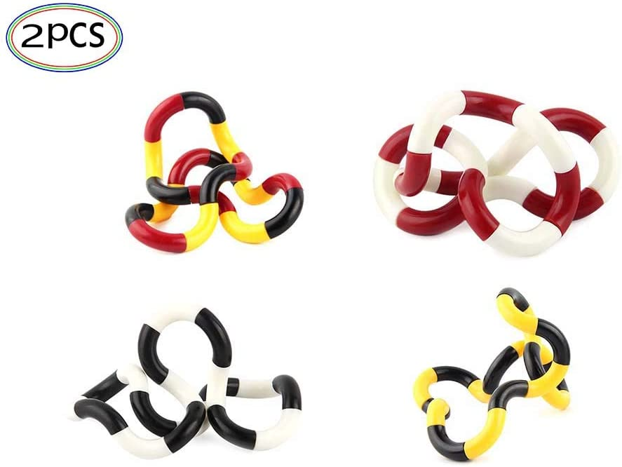 Tangle Fun Twisters 2 PCS Fidget Toys Rainbow Design Random Colors