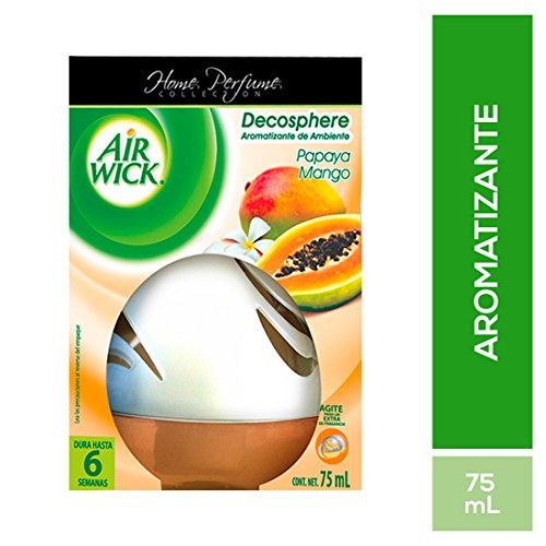 Air Wick Decosphere Aromatizante de Ambiente, Papaya Mango, 75 ml