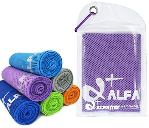 Max Full Body Recovery Cooling Towel - Extra Large, Ultra Soft Breathable Beach Towel - Keep Cool for Hiking Tennis Golf Swimming Camping Hiking Gym & More, Waterproof Bag Packaging with Carabiner