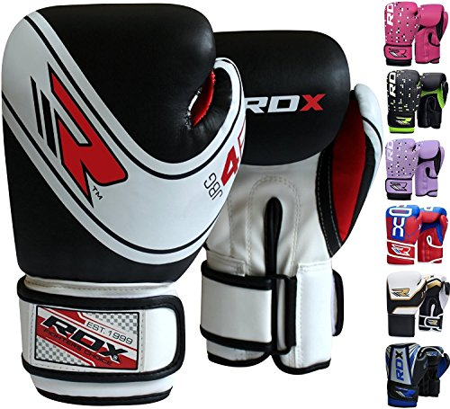 RDX Maya Hide Leather 4oz 6oz Kids Boxing Gloves Junior Punch Bag Children MMA Training Youth Muay Thai Mitts