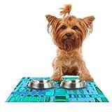 Cheap Kess InHouse Vikki Salmela Changing Gears Feeding Mat for Pet Bowl, 18 by 13-Inch
