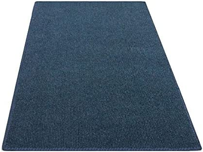12 x20 Rectangle – Dark Blue Waters – Economy Indoor Outdoor Carpet Patio Pool Area Rugs Light Weight Indoor Outdoor Rug – Easy Maintenance – Just Hose Off Dry – 10 Colors to Choose from