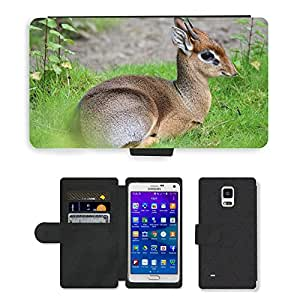 Super Stella Cell Phone Card Slot PU Leather Wallet Case // M00144522 Animal Small Zoo // Samsung Galaxy Note 4 IV
