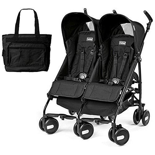 Peg-Perego Stroller Pliko Mini Twin Onyx Black With Black...