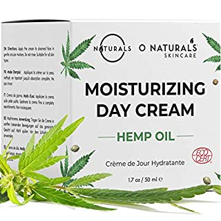 O Naturals Organic Face Moisturizer Hemp Oil Day Face & Neck Anti-Aging Cream. Hyaluronic Acid Hydrating Relives Dry Skin. Boost Collagen, Prevent Signs of Aging Eye Repair Women & Men Skin Care 1.7oz