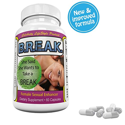 #1 BREAK 4 Her, Best Sex Support Pill, All Ages of Woman,HORNEY! INTENSE Sex, Libido, Orgasm, WHY Lose Your Man to Another Woman? BREAK Sex Pill for Women. For heavenly Sexual Pleasure. Made in USA.