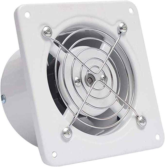 Toilet Extractor Fans with run on Timer /& Automatic Shutters 4 x Bathroom
