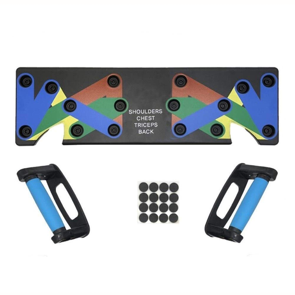 Home Fitness Training, Push-up Bracket Board,9 in 1 System Push-up Bracket Portable