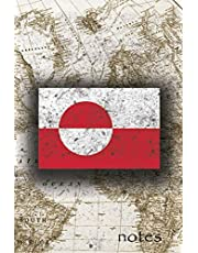 Notes: Beautiful Flag Of Greenland Lined Journal Or Notebook, Great Gift For People Who Love To Travel, Perfect For Work Or School Notes