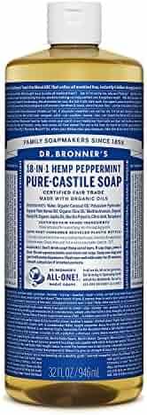 Dr. Bronner's Pure Liquid Castile Soap - Peppermint 32oz.
