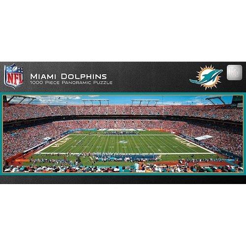 MasterPieces NFL Miami Dolphins 1000 Piece Stadium Panoramic Jigsaw - Dolphin Store Miami