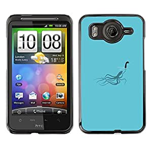 EJOY---Cubierta de la caja de protección la piel dura para el / HTC G10 / --Loch Ness calamar divertido