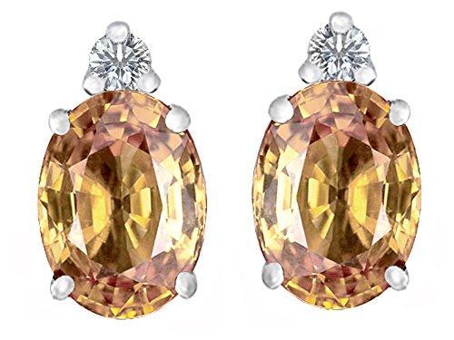 oval imperial topaz stud earrings - 2