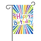 My Daily Happy Birthday Decorative Double Sided House Flag 28 x 40 inches
